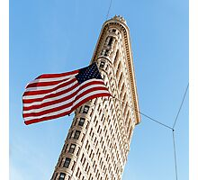 Flatiron Building & Flag - New York City Photograph Photographic Print