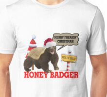 Honey Badger Merry Freakin' Christmas Unisex T-Shirt