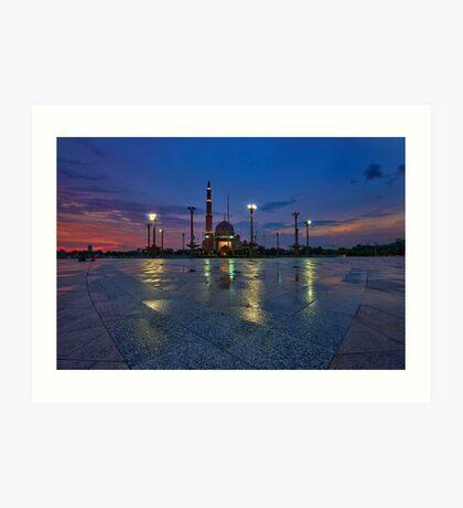 Blue Hour Sunset at Putra Mosque Art Print