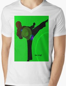 Just kicked in Mens V-Neck T-Shirt