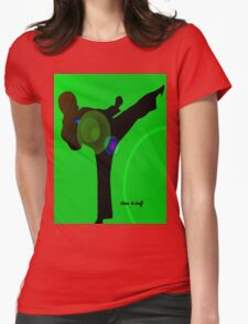 Just kicked in Womens Fitted T-Shirt