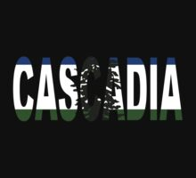 Cascadia, Flag in Letters by AJDrex