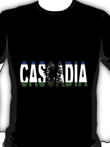 Cascadia, Flag in Letters T-Shirt