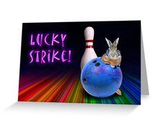 Lucky Strike Bunny Greeting Card