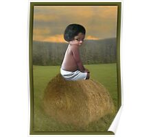 ✿♥‿♥✿COUNTRY SWEETNESS ON A BALE OF HAY✿♥‿♥✿ Poster