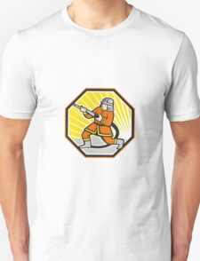Japanese Fireman Firefighter Cartoon Unisex T-Shirt