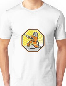 Japanese Fireman Firefighter Cartoon Unisex T-Shirt