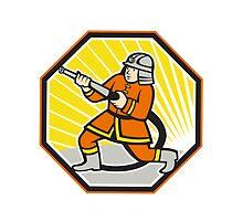 Japanese Fireman Firefighter Cartoon by patrimonio