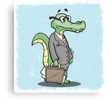 Alligator Lawyer Canvas Print