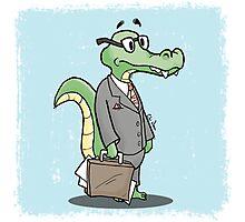 Alligator Lawyer Photographic Print