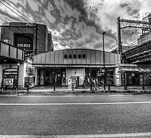 Takadanobaba Station by Brendan Arthur Ring
