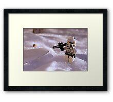 Snow Trooper Framed Print