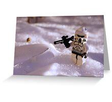 Snow Trooper Greeting Card