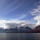 Looking South down Chilko Lake, BC, Canada by Kye Valongo