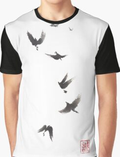 Black pennant sumi-e painting Graphic T-Shirt