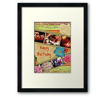 Happy birthday collage Framed Print