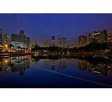 City Reflections at Dawn Photographic Print