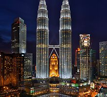 Twin Towers Close-up by Nur Ismail Mohammed