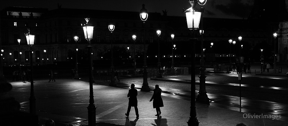Walkers in the night by Olivier Sohn