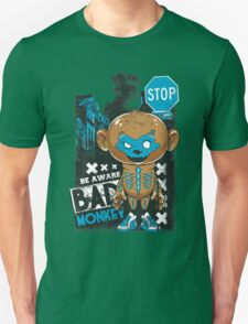 Be Aware Bad Monkey Brown And Blue Unisex T-Shirt