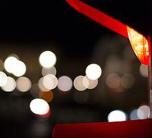 Red Traffic Light in Paris by Olivier Sohn