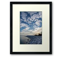 Cirrocumulus Clouds and Sunshine - Lake Ontario, Toronto, Canada Framed Print