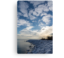 Cirrocumulus Clouds and Sunshine - Lake Ontario, Toronto, Canada Canvas Print