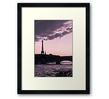 The Eiffel Tower from Pont Alexandre III (vertical) Framed Print