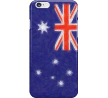 Australian flag - painting iPhone Case/Skin