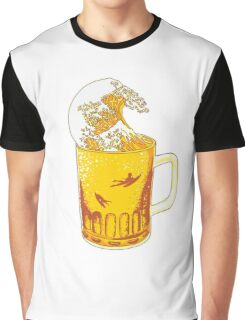 Beer Wave Graphic T-Shirt