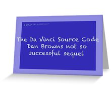 The Da Vinci Source Code Greeting Card