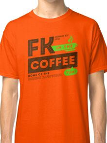 Deadly Premonition - FK In The Coffee Official Tee (Brown / Green) Classic T-Shirt