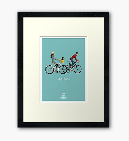City Ride - Hello there Framed Print
