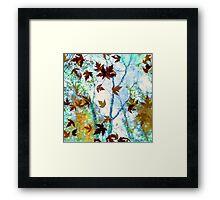 Raining Leaves Framed Print