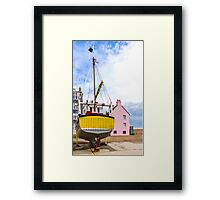 Pink with a splash of Yellow Framed Print