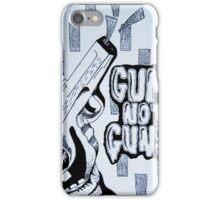 Gum Not Guns iPhone Case/Skin