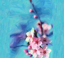 Cherry Flower - Painting by stereoscopic