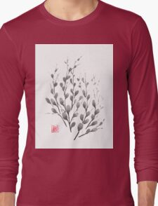 Gentle promise sumi-e painting Long Sleeve T-Shirt