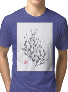 Gentle promise sumi-e painting Tri-blend T-Shirt