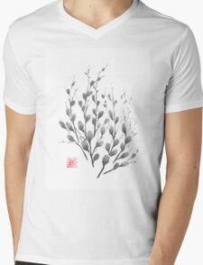Gentle promise sumi-e painting Mens V-Neck T-Shirt