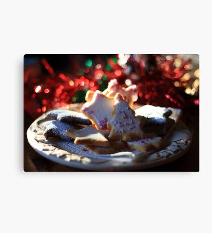 Christmas cookies for Santa Canvas Print