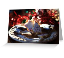 Christmas cookies for Santa Greeting Card