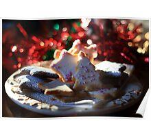 Christmas cookies for Santa Poster
