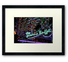 neon buffet Framed Print