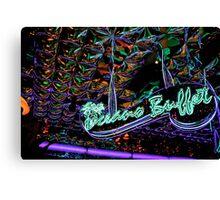 neon buffet Canvas Print
