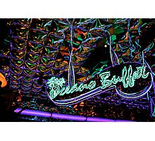 neon buffet Photographic Print