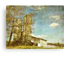 Towering Silos Canvas Print
