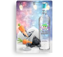 """Melted Snowman"" Martini - North Pole Vodka Metal Print"