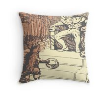 the King and the cat with boots Throw Pillow