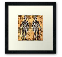 2 Knights Framed Print